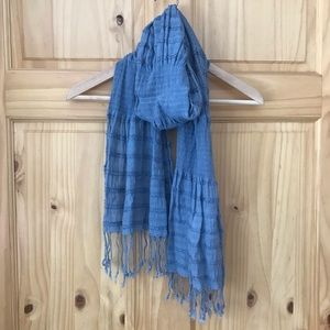 Maurices lightweight gauzy smocked fringed scarf